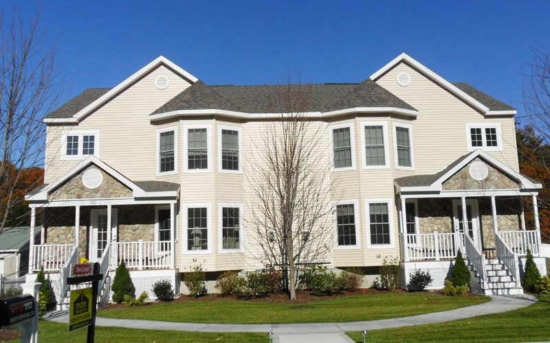 Multi family photos professional building systems for Two family modular homes